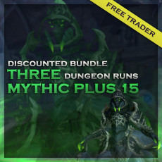 3 Mythic+15 Boosts – Discounted Bundle – Free Trader!